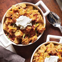Savory Bread Puddings with Ham and Cheddar recipe