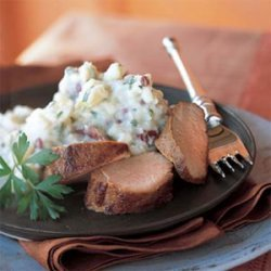 Mashed Potatoes with Blue Cheese and Parsley recipe