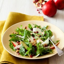 Pear and Manchego Salad with Walnut Dressing recipe