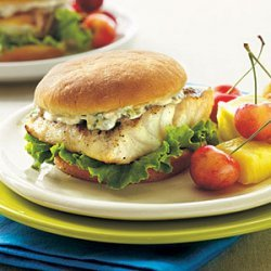 Grilled Grouper Sandwiches with Tartar Sauce recipe
