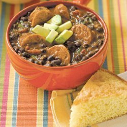 Black Bean Soup with Sausage recipe