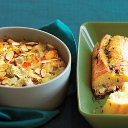 Warm Crab and Artichoke Dip with French Bread recipe