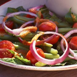 Green Bean-and-Tomato Salad with Roasted-Tomato Dressing recipe