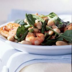 White Bean Salad with Shrimp and Asparagus recipe