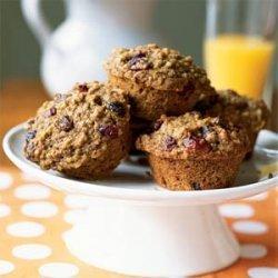 Whole Wheat, Oatmeal, and Raisin Muffins recipe