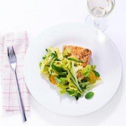 Glazed Salmon with Mint and Cucumber Slaw recipe