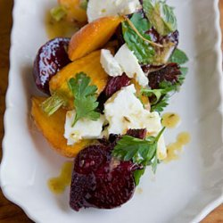 Roasted Carrot and Beet Salad with Feta, Pulled Parsley, and Cumin Vinaigrette recipe