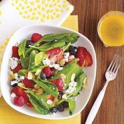 Summer Berry Salad with Lime-Basil Vinaigrette recipe