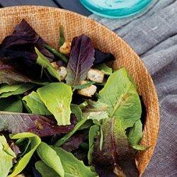Green Bean Caesar Salad with Baby Romaine Lettuces recipe