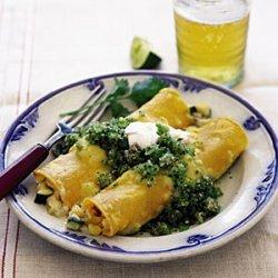 Chicken Enchiladas with Green Salsa recipe