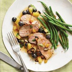 Jerk Pork Tenderloin with Blueberry Salsa recipe