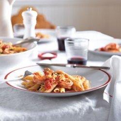 Pasta Pomodoro with Shrimp and Lemon Zest recipe