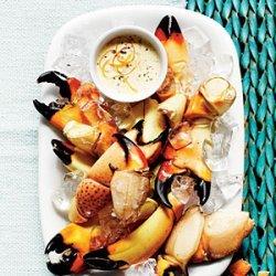 Stone Crab Claws with Zesty Orange-Horseradish Sauce recipe