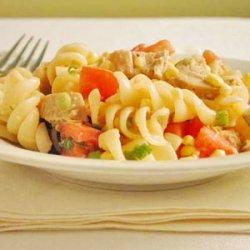 Chicken, Corn, and Green Onion Rotini recipe