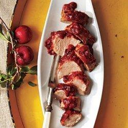 Roast Pork Tenderloin with Plum Barbecue Sauce recipe