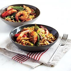 Shrimp and Shiitake Rice Bowl recipe