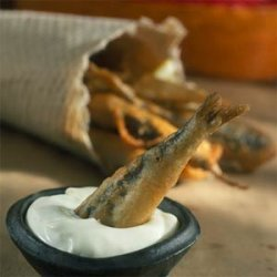 Beer-Battered Sardines with Wasabi Mayonnaise recipe
