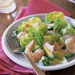 Poached Shrimp and Butter Lettuce Salad with Lemon-Orange Vinaigrette recipe
