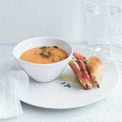 Cantaloupe Soup with Prosciutto and Mozzarella Sandwiches recipe