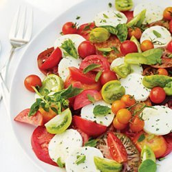 Tomato and Herb Salad with Fresh Chive Cheese recipe