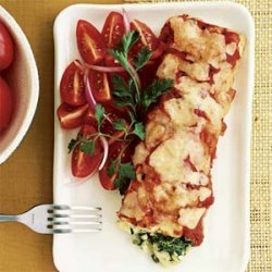 Spinach and Crab Enchiladas recipe