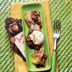 Browned Butter Bananas with Toasted Pecans recipe