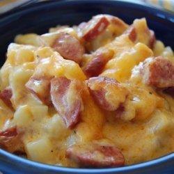 Cheese Potato & Smoked Sausage Casserole recipe