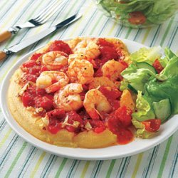 Polenta with Shrimp and Tomatoes recipe