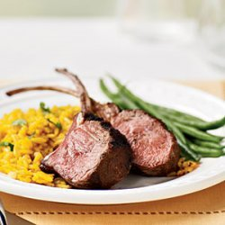 Grilled Rack of Lamb with Saffron Rice recipe