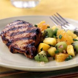 Grilled Chicken with Fruit Salsa recipe