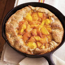 Rustic Spiced Peach Tart with Almond Pastry recipe