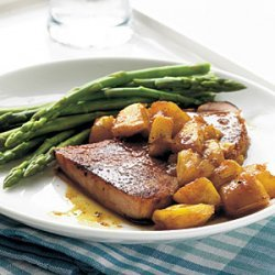 Skillet-Grilled Ham with Glazed Pineapple recipe