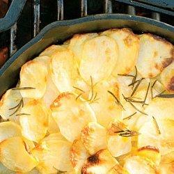 Grilled Potato Rosemary Cake recipe