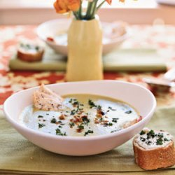 Soupe au Verte with Goat Cheese Toasts recipe