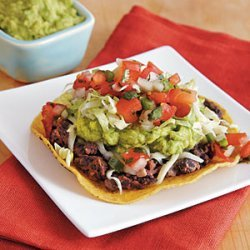 Veggie Tostadas with Black Beans and Easy Guacamole recipe