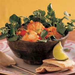 Warm Scallop Salad with Lime and Cilantro recipe