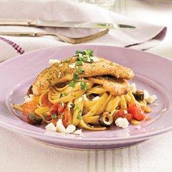 Mediterranean Turkey Cutlets and Pasta recipe