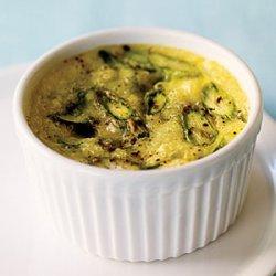 Creamy Baked Eggs with Asparagus and Pecorino recipe