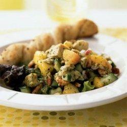 Chicken Salad with Nectarines in Mint Vinaigrette recipe