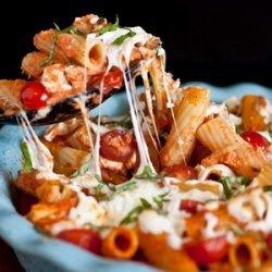 Grilled Chicken Caprese Pasta recipe