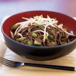 Spicy Cucumber Noodle Salad with Edamame recipe