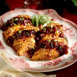 Caramelized Chicken with Cranberry Conserve recipe