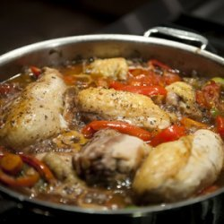 Garlic Chicken With Peppers and Beans recipe