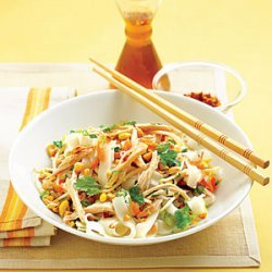 Asian Chicken and Rice Noodle Salad recipe