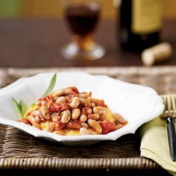 Polenta with Tomato-Braised Beans recipe