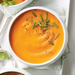 Carrot, Apple, and Ginger Soup recipe