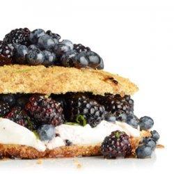 Cornmeal Shortcake with Maple Berries recipe