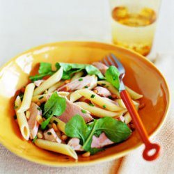 Penne with Salmon, Arugula, and Chives recipe