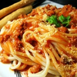 Spaghetti with Italian Meat Sauce recipe