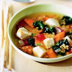 Kale, Lentil & Chicken Soup recipe